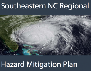 Image with Document Title and Graphic Depicting Hurricane