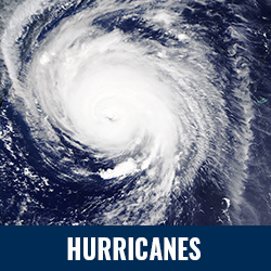 Hurricanes - Photo: Satellite image of a hurricane. Click to learn more about hurricanes.
