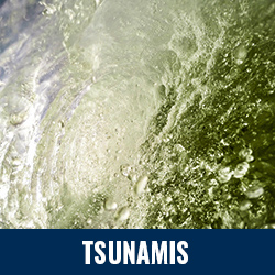 Tsunamis - Photo: Close up of wave crashing. Click to learn more about tsunamis.