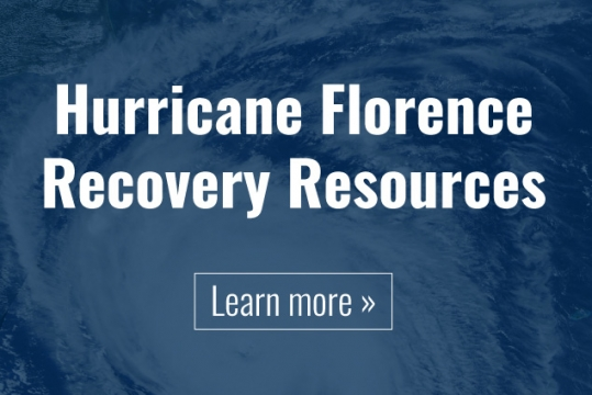Hurricane Florence Recovery Resources - Click to learn more.