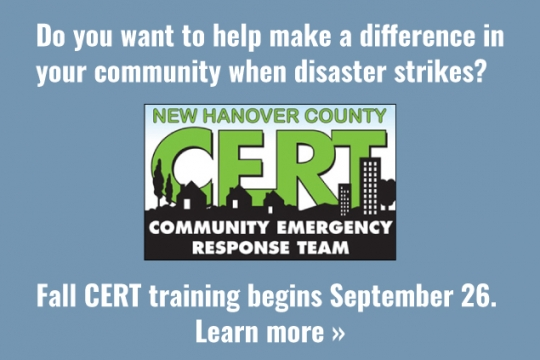 Do you want to help make a difference in your community when disaster strikes? Click to learn about how to join NHC CERT.